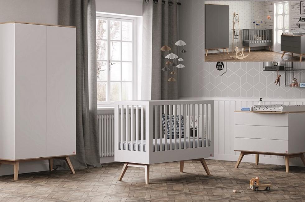 Vox 3-tlg. Babyzimmer-Set 'Natur' weiß/natur Bild 1