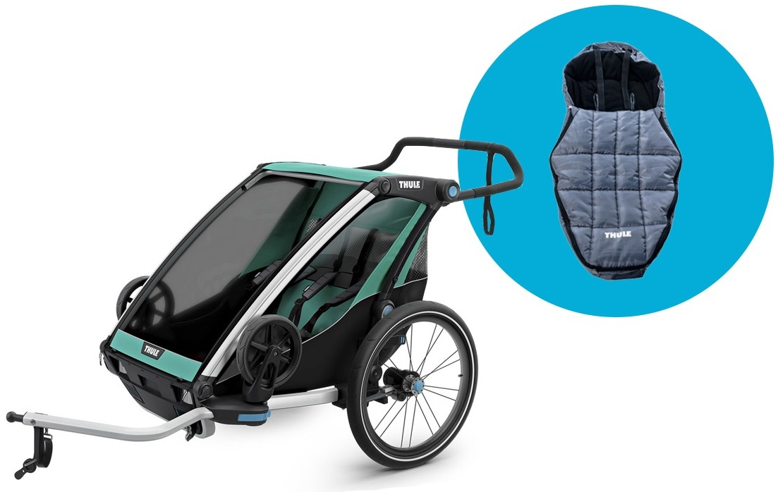 Thule 'Chariot Lite 2' Fahrradanhänger 2-Sitzer inkl. Fußsack Bild 1