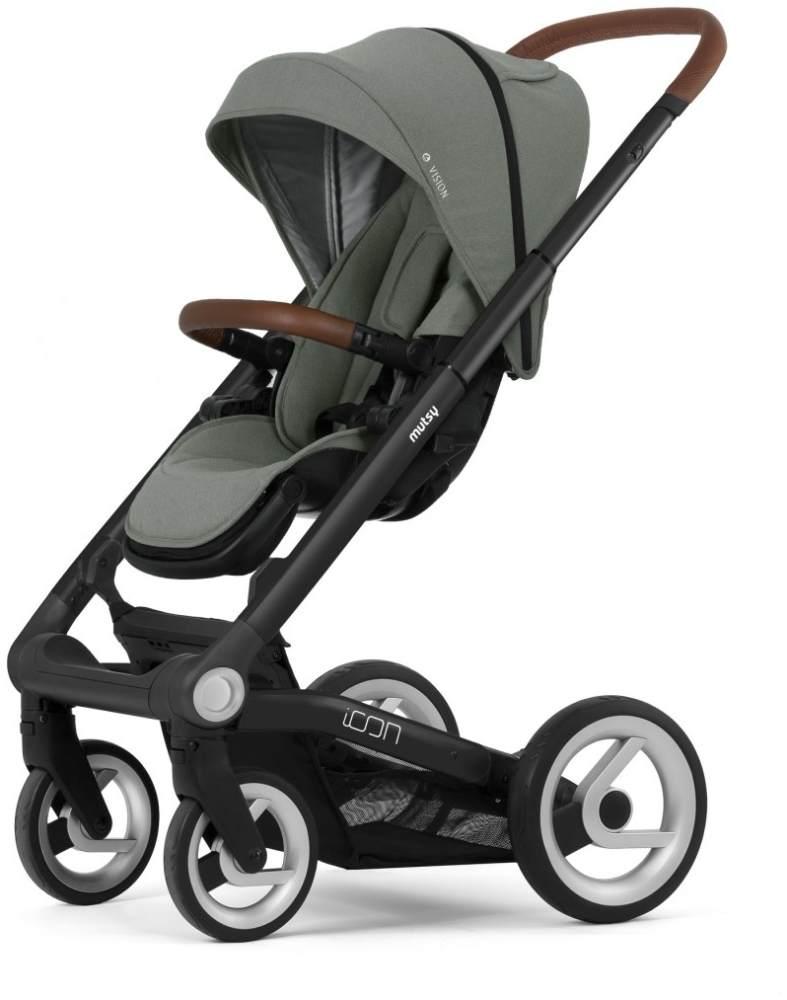 Mutsy 'Icon' Sportkinderwagen 2020, Black (Griff Rot) / Vision Jade Green Bild 1