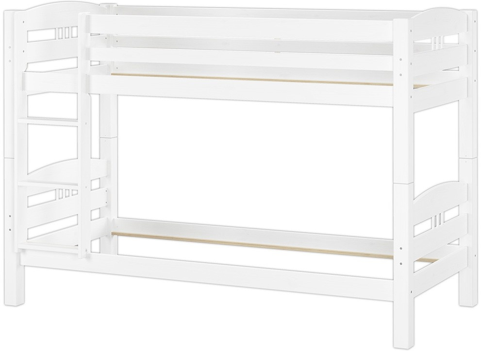Erst-Holz Etagenbett 90x200 cm, weiß, Kiefer massiv Bild 1