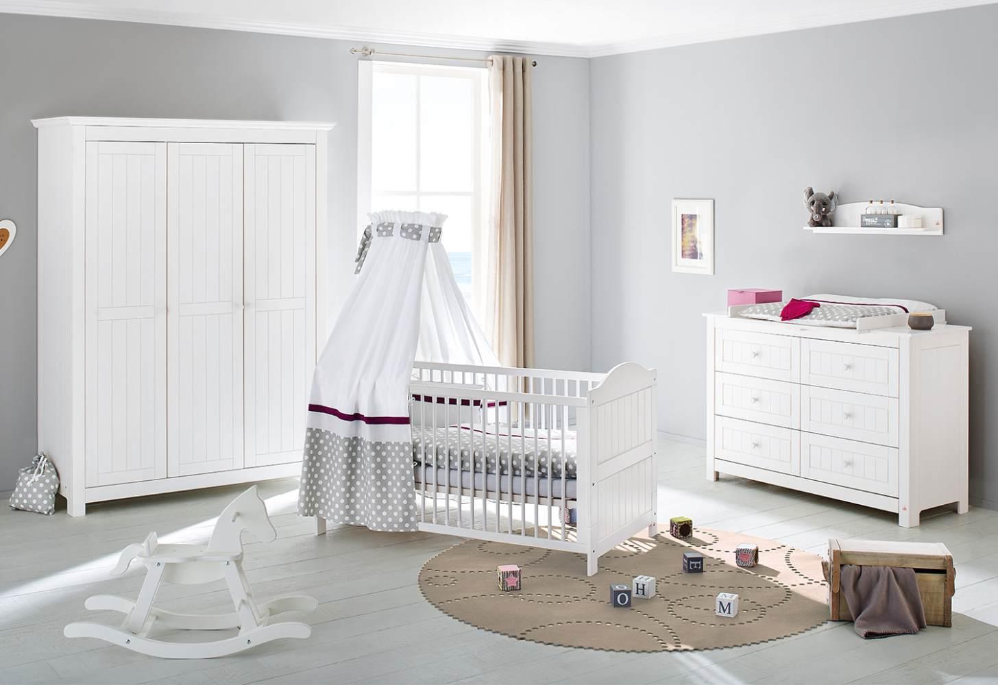 Pinolino 'Nina' 3-tlg. Babyzimmer-Set weiß, breit, 3-türig Bild 1