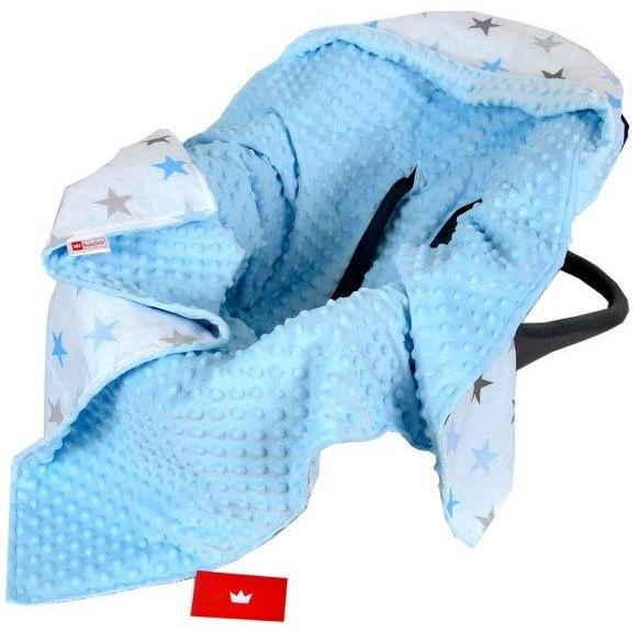 BabyLux 'Sterne' Einschlagdecke 90x90 cm, blau Bild 1