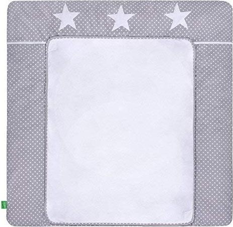 LULANDO 'White Dots/Grey Stars' Wickelauflage 75 x 80 cm grau/weiß Bild 1