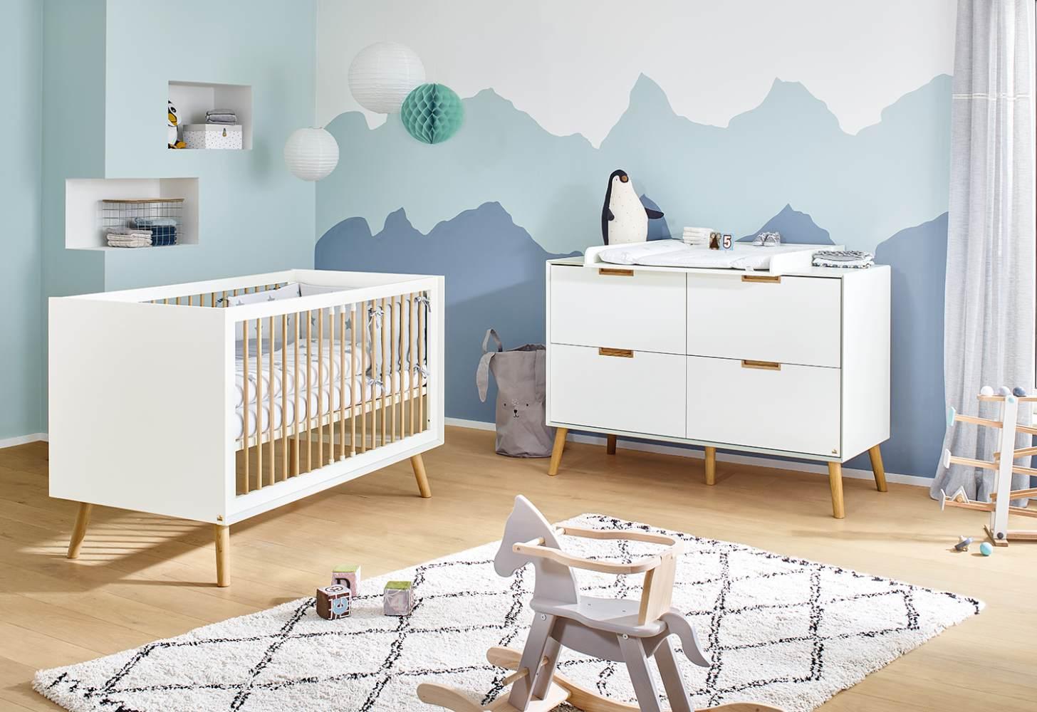 Pinolino 'Edge' 2-tlg. Babyzimmer-Set extrabreit Bild 1