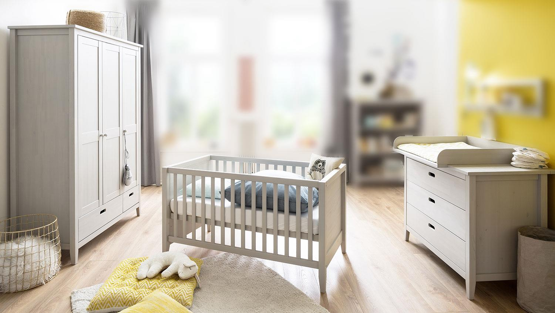 Euro Duffusion 'Finn' 3-teiliges Babyzimmer, grau Bild 1