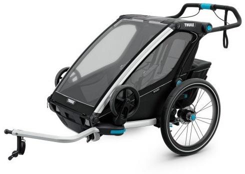 Thule 'Chariot Sport 2' Fahrradanhänger 2020 Schwarz, 2-Sitzer Bild 1