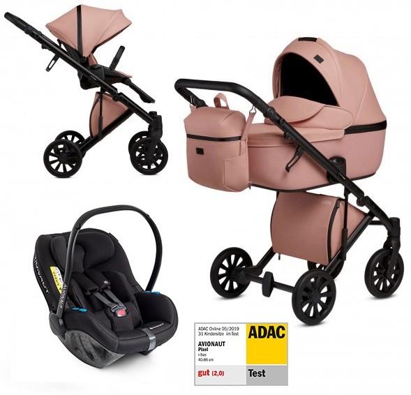 Anex 'e/type' Kombikinderwagen 4plusin1 2020 in Peach mit Avionaut Babyschale Bild 1
