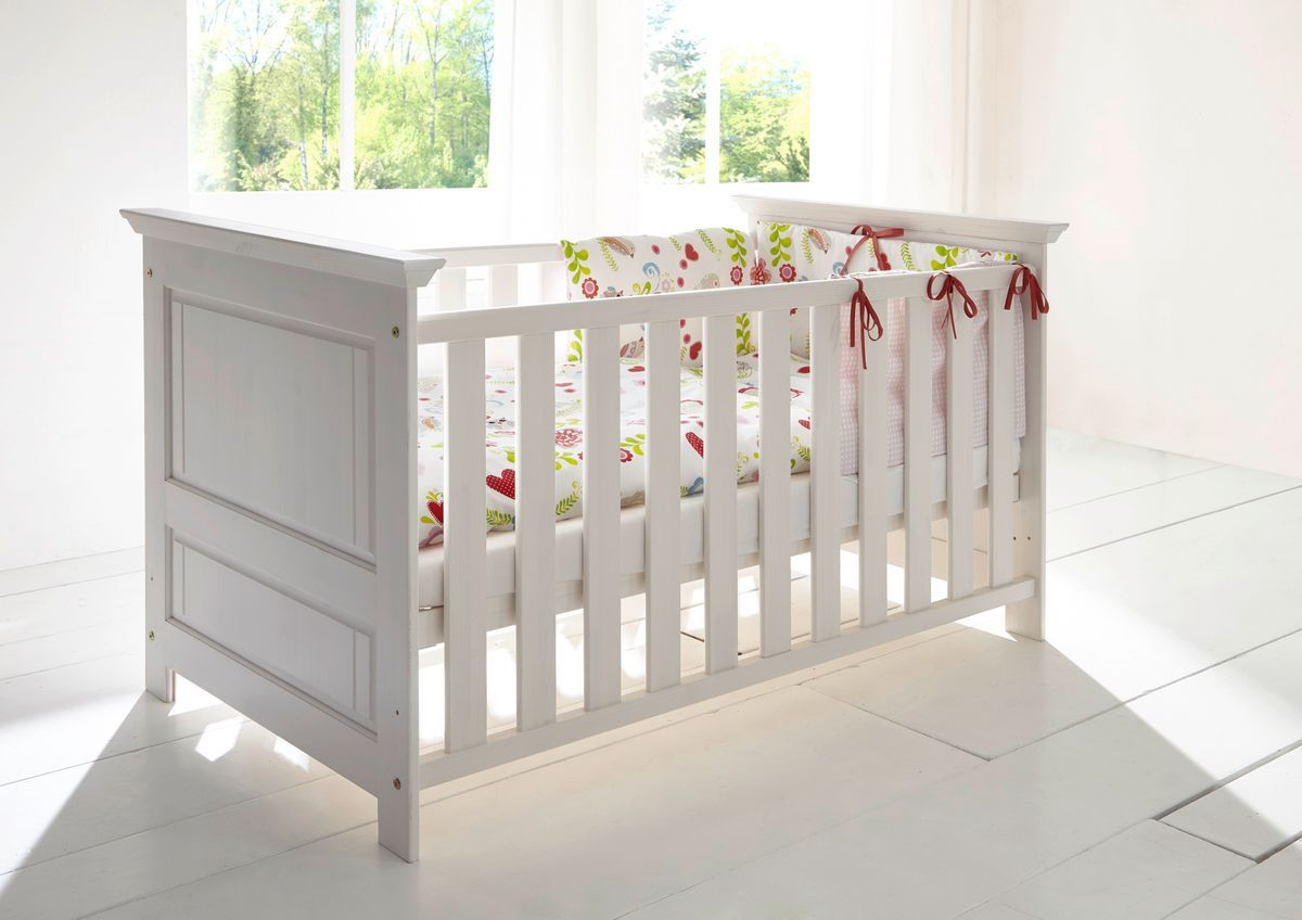 'Odetta' Kinderbett aus Kiefer 140x70 cm, weiß Bild 1