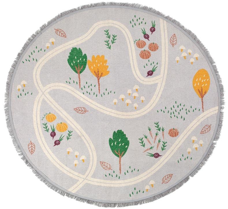 """Nattiot Hochwertiger Kinderteppich """"little garden"""", 100% Baumwolle, 120 cm Bild 1"""