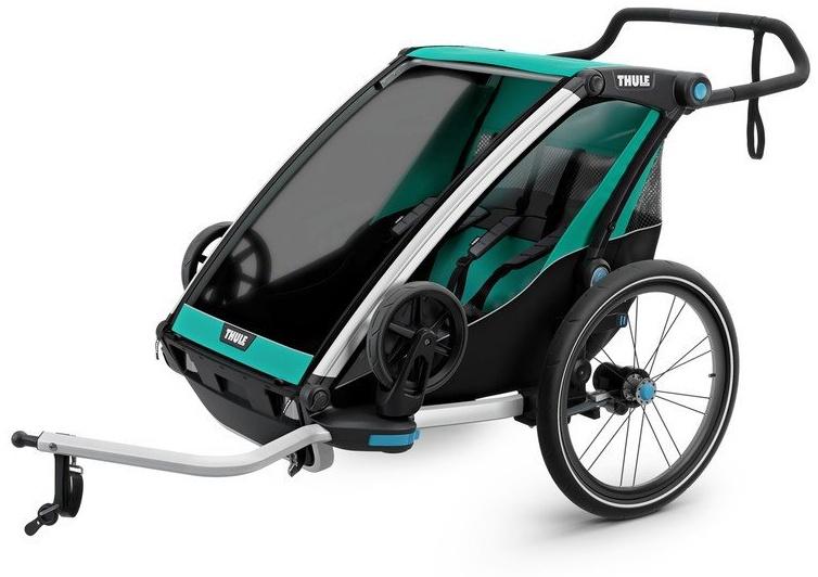 Thule 'Chariot Lite 2' Fahrradanhänger 2018, Blue Grass/Black, 2-Sitzer Bild 1