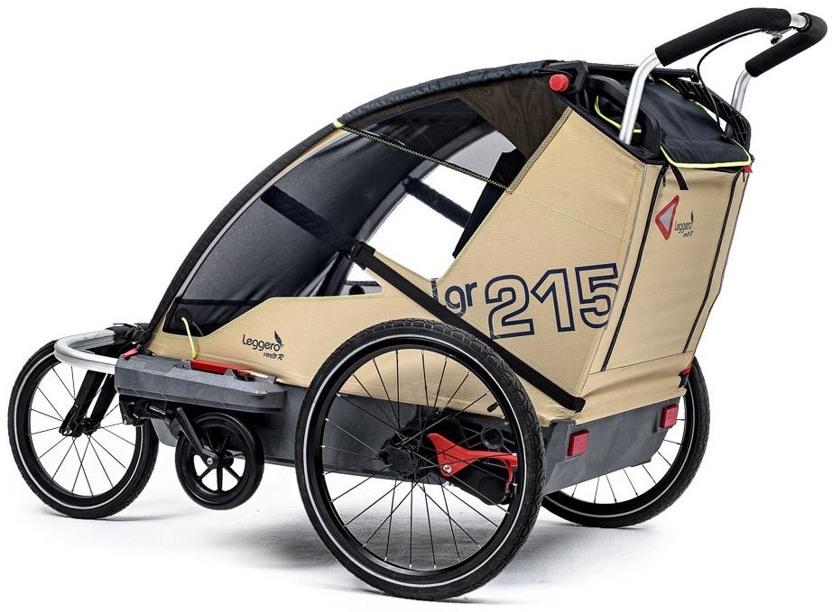 Leggero 'Vento R Active' Fahrradanhänger Surf, 2-Sitzer inkl. Jogger- & Buggyset Bild 1