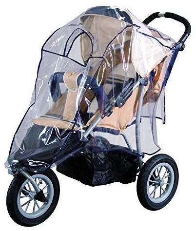 sunnybaby 13189 - Universal Regenverdeck, Regenschutz, Regenhaube für Jogger, 3-Rad-Kinderwagen | Kontaktfenster für optimale Luftzirkulation | glasklar | schadstofffrei | Qualität: MADE in GERMANY Bild 1