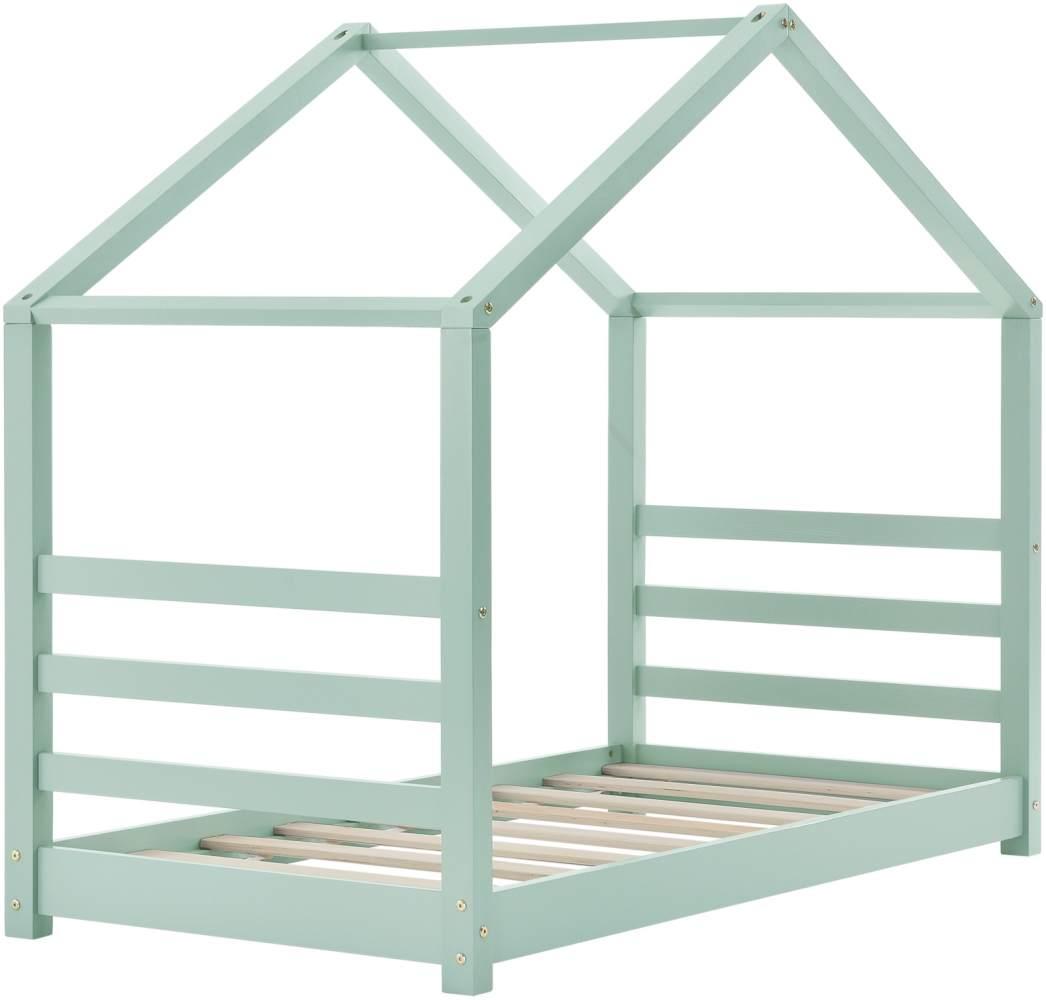 en.casa Hausbett 70x140cm Mint, inkl. Lattenrost Bild 1