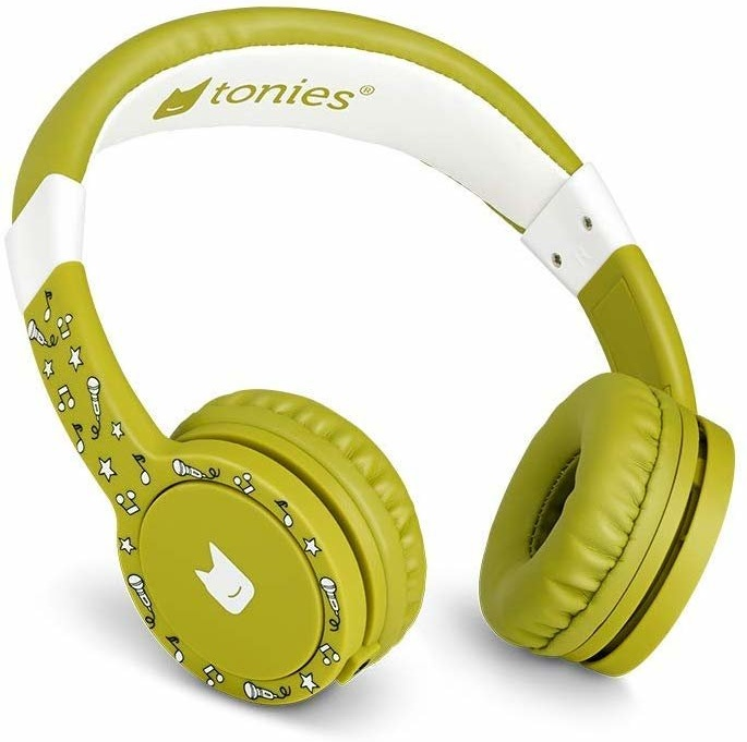 Tonies 'Tonie-Lauscher' Grün, Kinder-Kopfhörer passend zur Toniebox, Lautstärke reguliert, abnehmbares Kabel, größenverstellbar, bewegliche Ohrmuscheln Bild 1