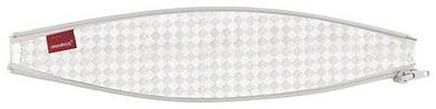 bellybutton by manduca ZipIn Ellipse > SoftCheck Sand< Reißverschluss-Einsatz für die manduca Babytrage/Bauchtrage, optimiert für Neugeborene und kleine Babys, beige mit weißem Karomuster Bild 1