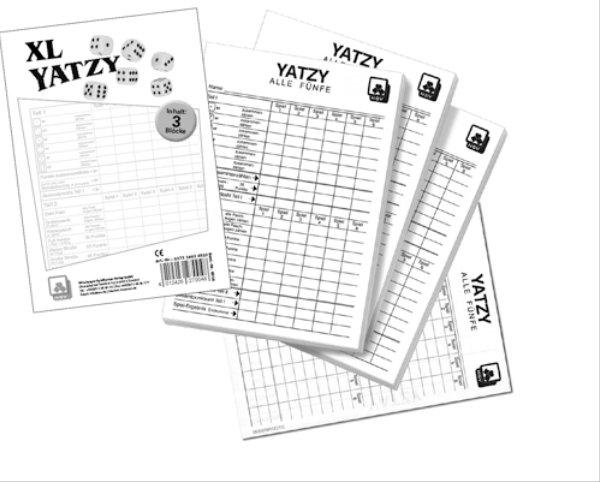 Unbekannt Nbg.-Spielkarten-Vlg. 6016 - Yatzy -extra Classic- Spielblöcke, Spiele und Puzzles, 3er Set Bild 1