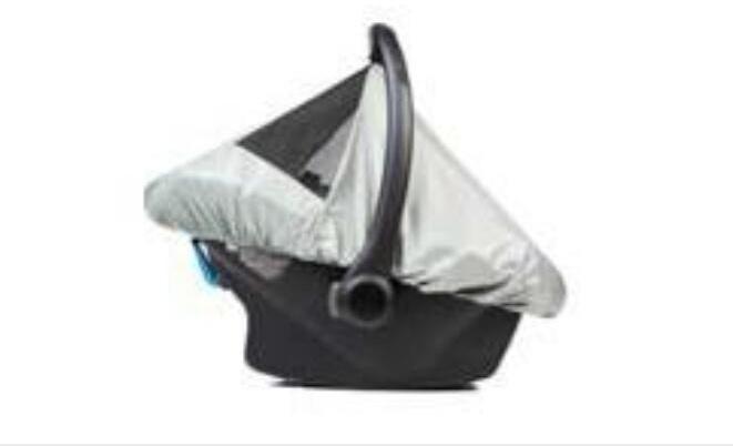 Anex Windschutz für Kindersitz Silbergrau Bild 1