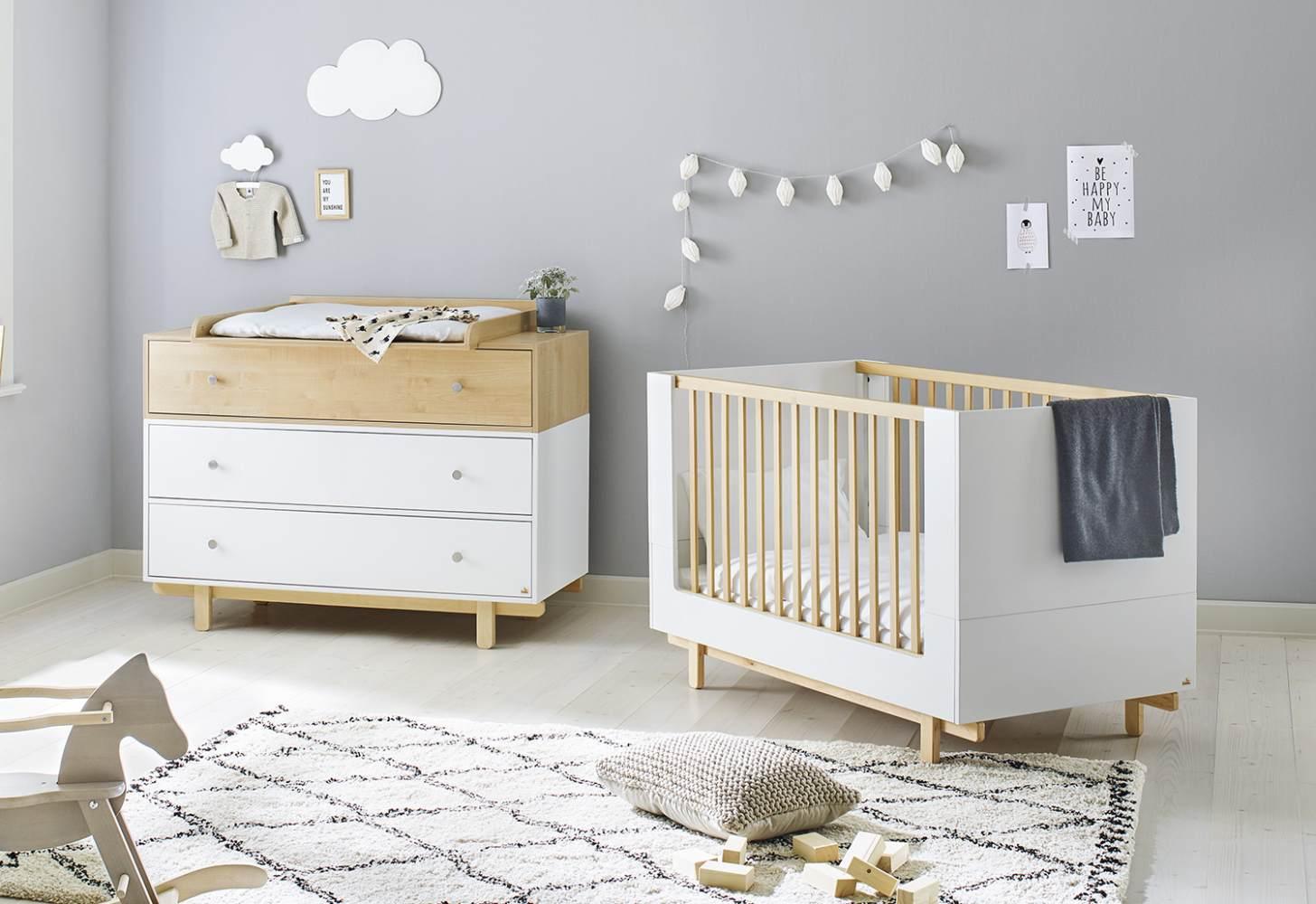 Pinolino 'Boks' 2-tlg. Babyzimmer-Set natur/weiß Bild 1