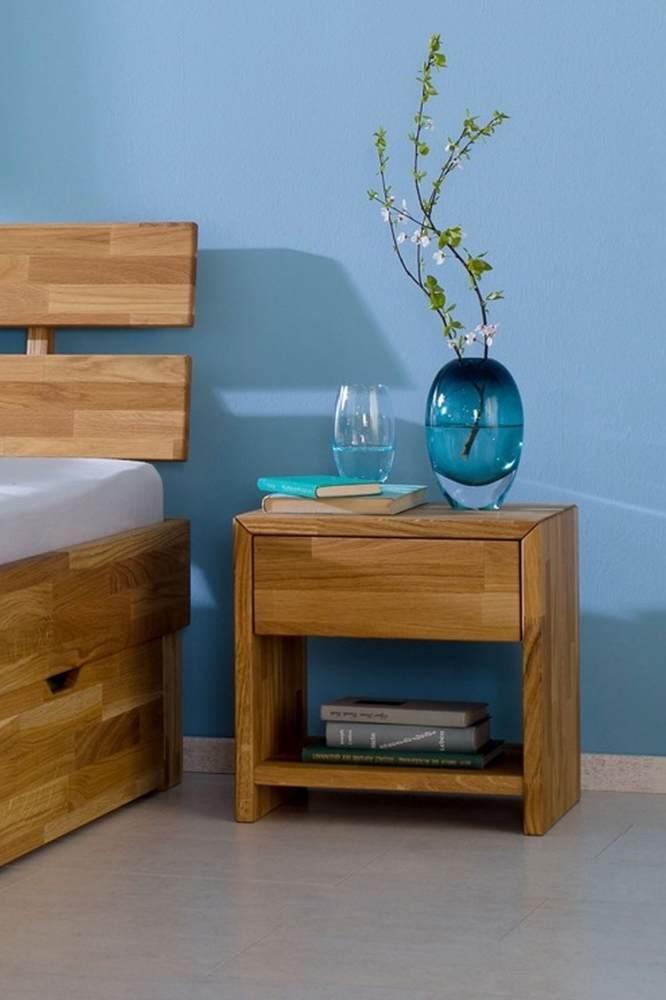 Relita 'Julia' Nachttisch mit 1 Schublade, Eiche natur geölt Bild 1