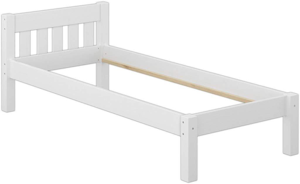 Erst-Holz Einzelbett Kiefer weiß 80x200 Jugendbett Bild 1
