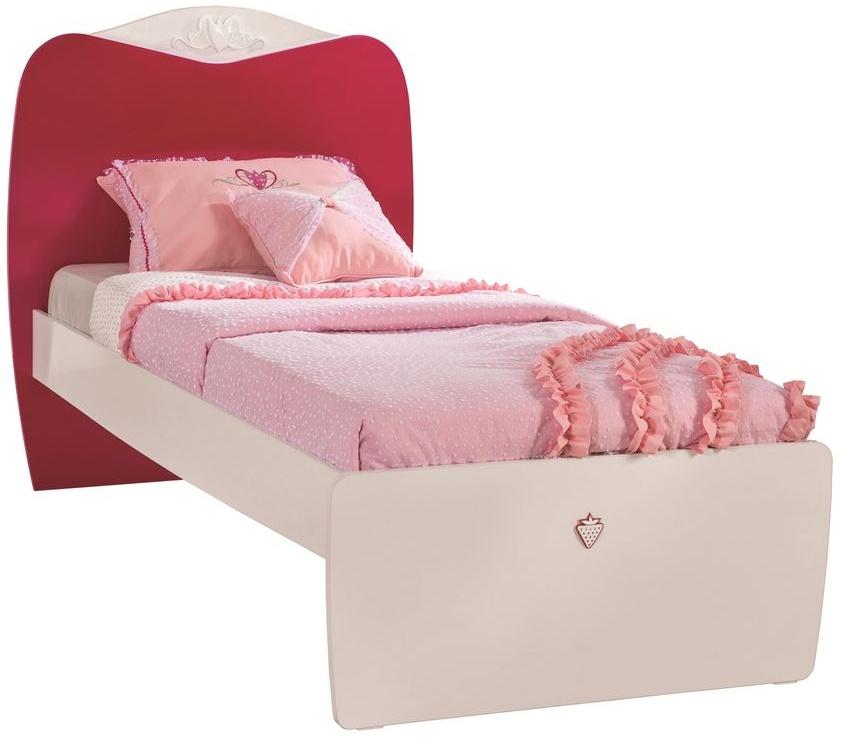 Cilek YAKUT Bett Kinderbett Kinderzimmer 90x190cm Weiß/Pink ohne Bild 1