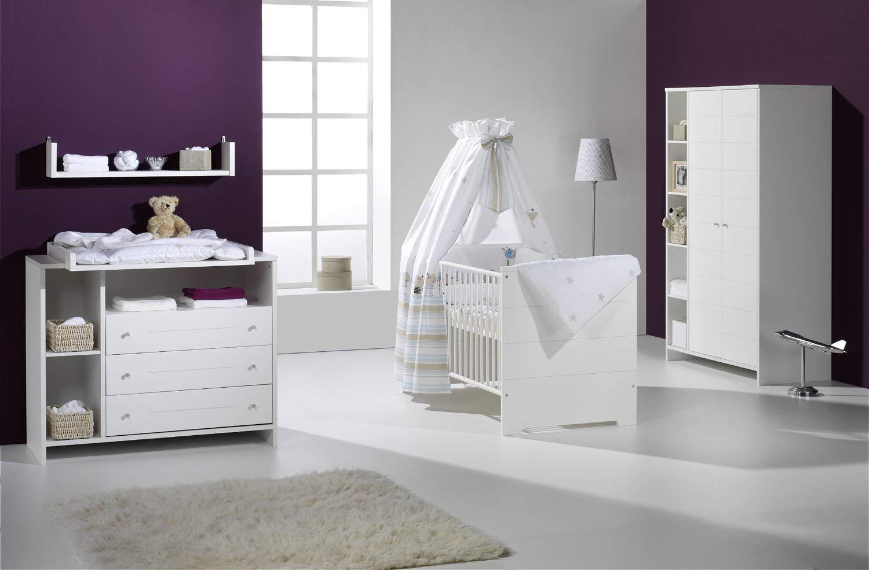 Schardt 'Eco Stripe' 2-tlg. Babyzimmer-Set weiß Bild 1