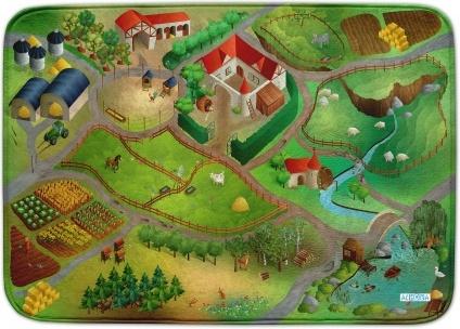 Ultrasoft Spielteppich 'Bauernhof' 130x180 Bild 1