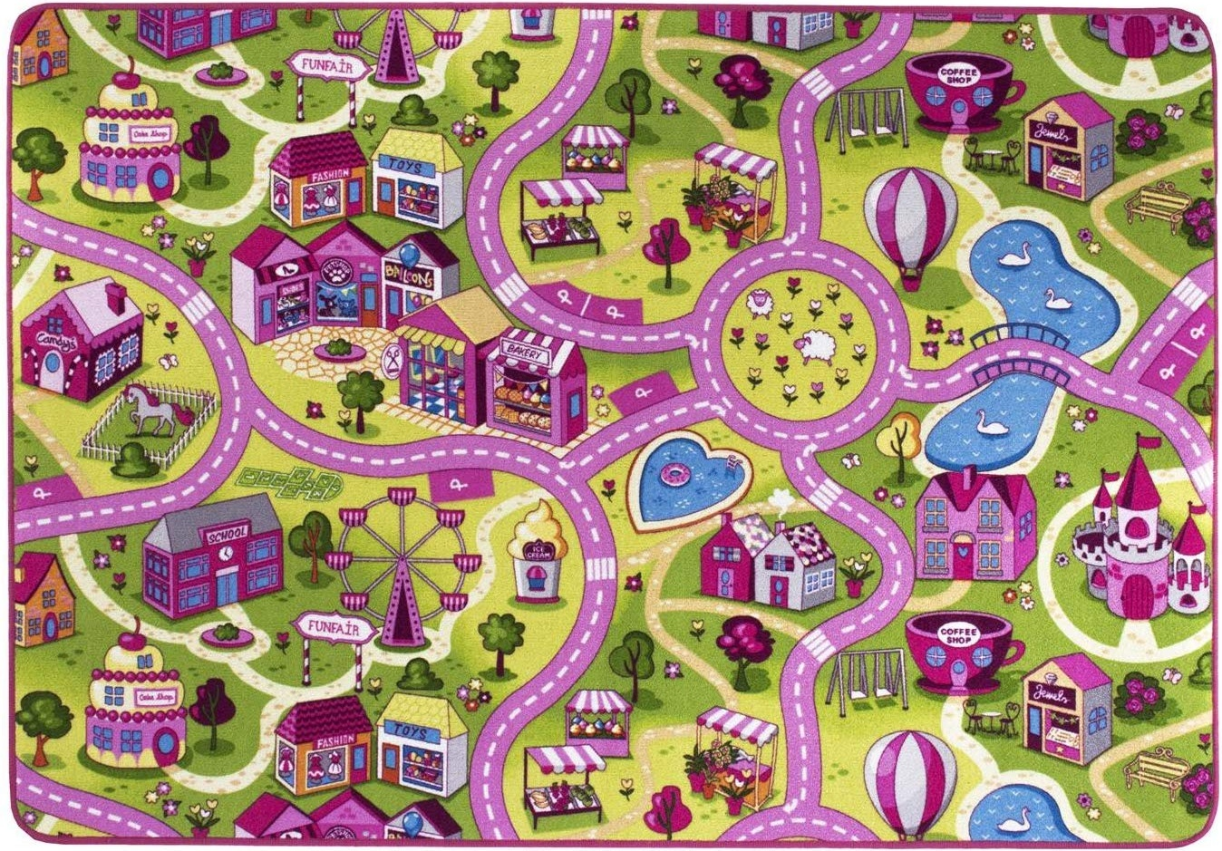 Kinderteppich 'City' 95x200 cm Bild 1
