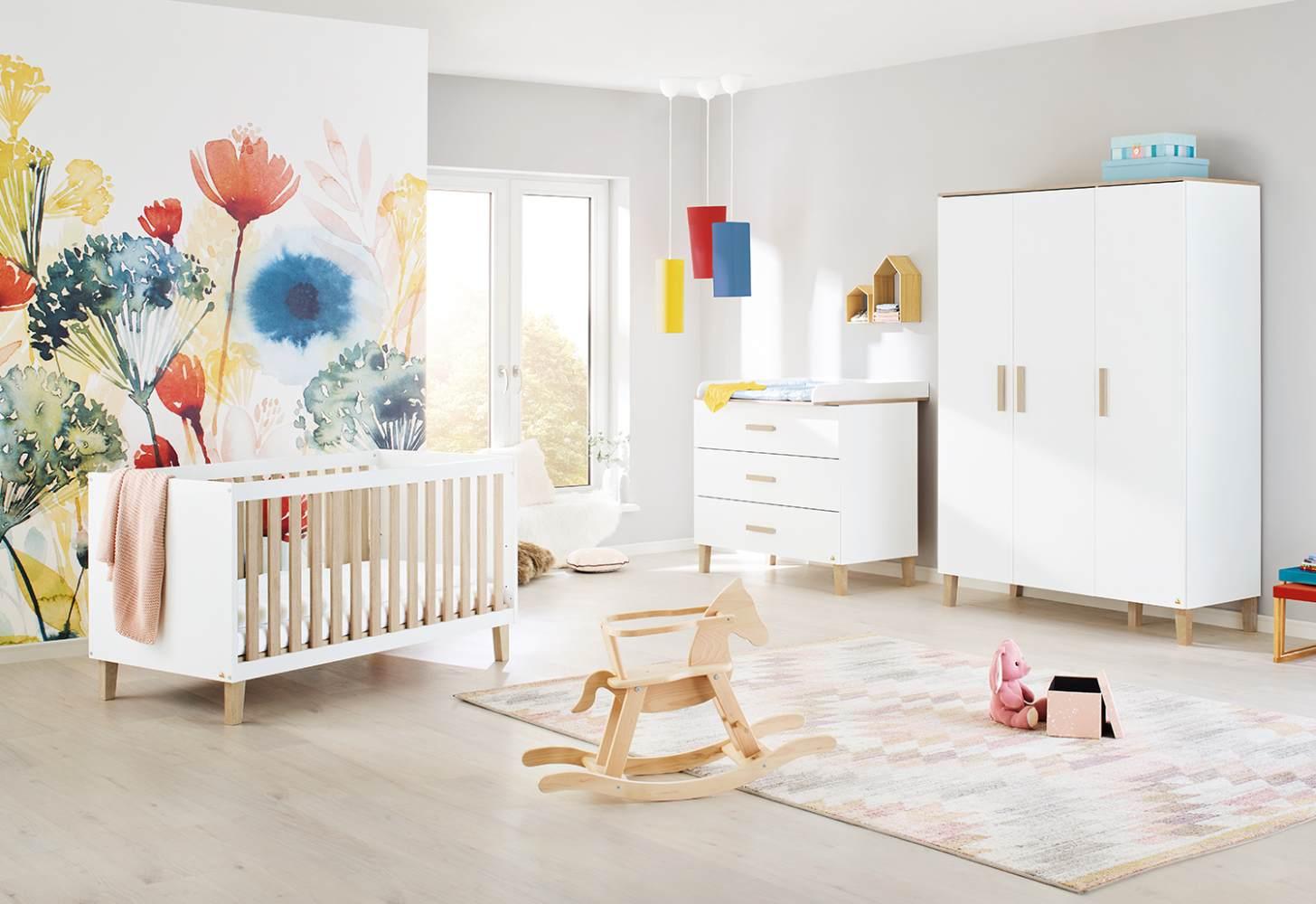 Pinolino 'Lumi' 3-tlg. Babyzimmer-Set, breit, groß Bild 1