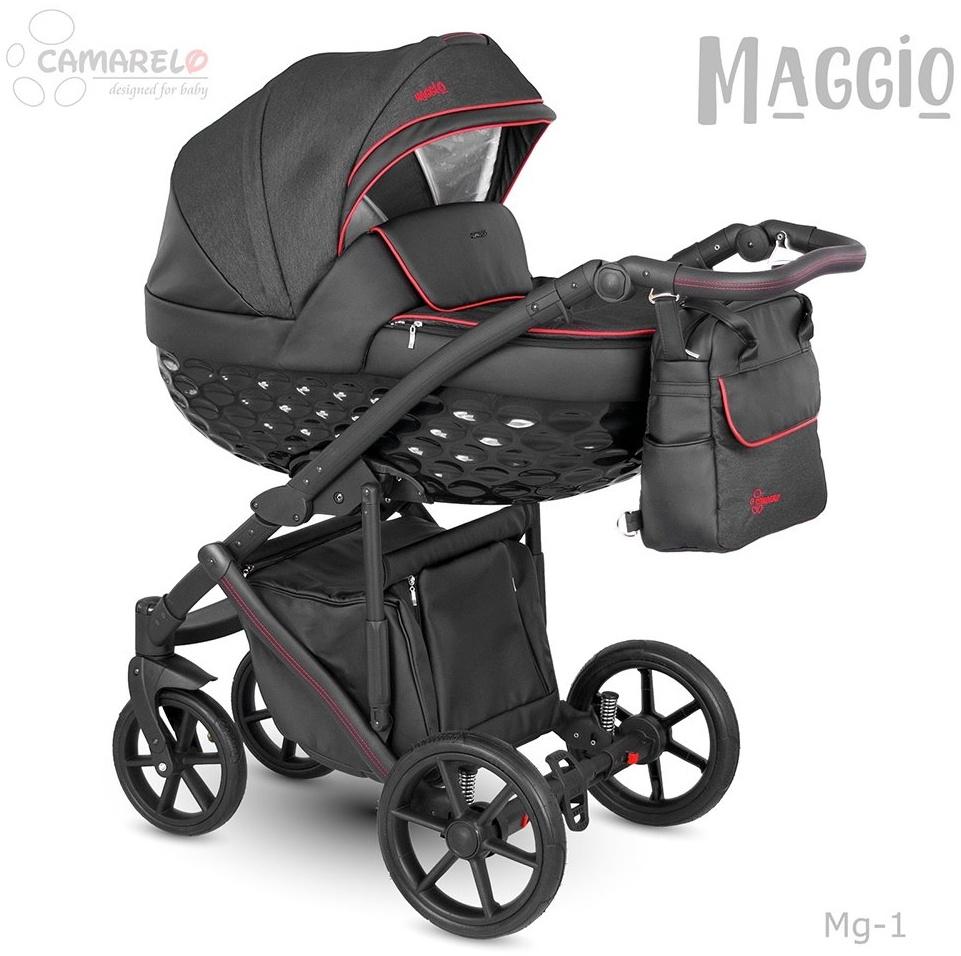 Camarelo Maggio Kombikinderwagen Mg-1 schwarz/ rot Bild 1
