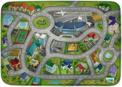 Spielteppich 'Speedway City Airport' 100 x 150 cm Bild 1