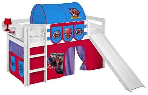Lilokids 'JELLE' Spielbett inkl. Vorhang 'Spiderman' Bild 1