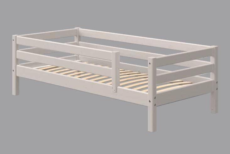 Flexa Classic Bett, mit 3/4 Absicherung und hinterer Absicherung 90 x 190 cm | Grau lasiert Bild 1