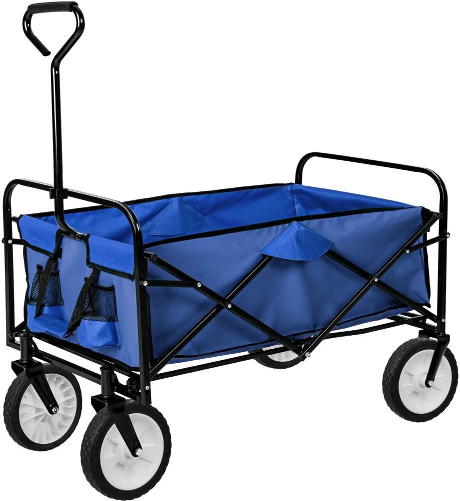 tectake Faltbarer Bollerwagen Blau Bild 1