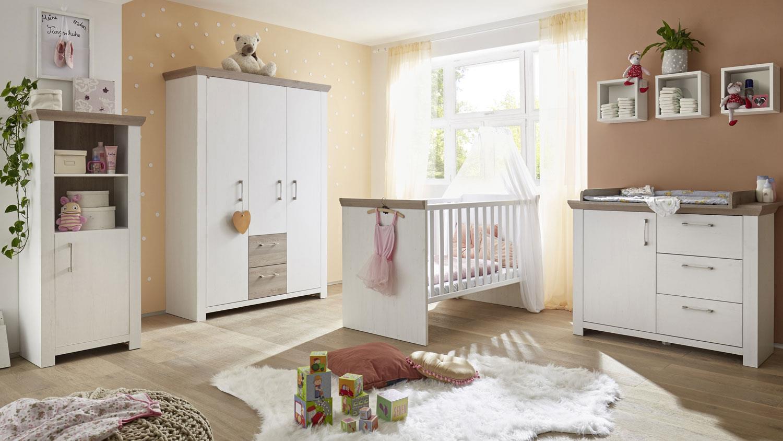 Mäusbacher 'NEW YORK' 7-tlg. Babyzimmer-Set anderson pine/nelson eiche Bild 1