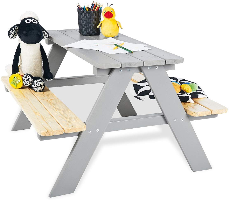 Pinolino 'Nicki für 4' Kindersitzgarnitur grau Bild 1