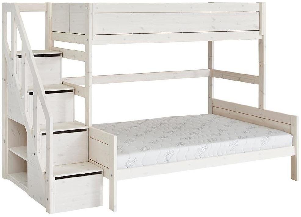 LIFETIME KIDSROOMS 'Family' Etagenbett 90/140x200 cm mit Treppe inkl. Deluxe Lattenrost 49741-01W Bild 1