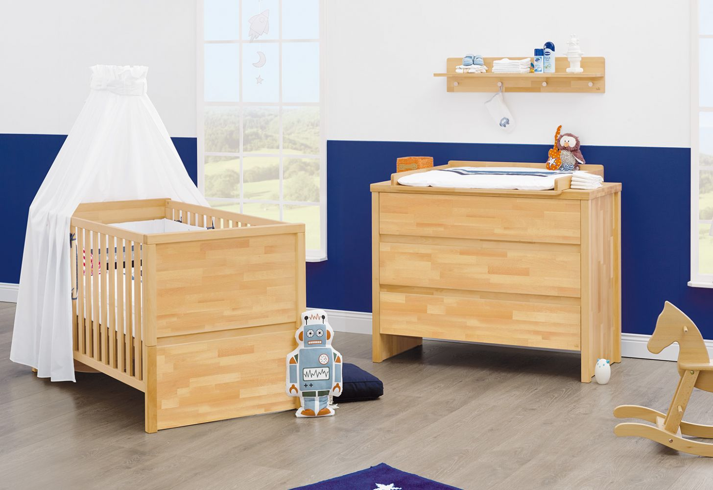 Pinolino 'Fagus' 2-tlg. Babyzimmer-Set natur Bild 1