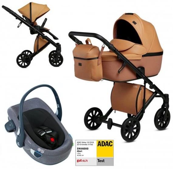 Anex 'e/type' Kombikinderwagen 4plusin1 2020 in Caramel mit Swandoo Babyschale Bild 1