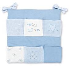 Pirulos 'Les Amis' Betttasche weiß/blau Bild 1