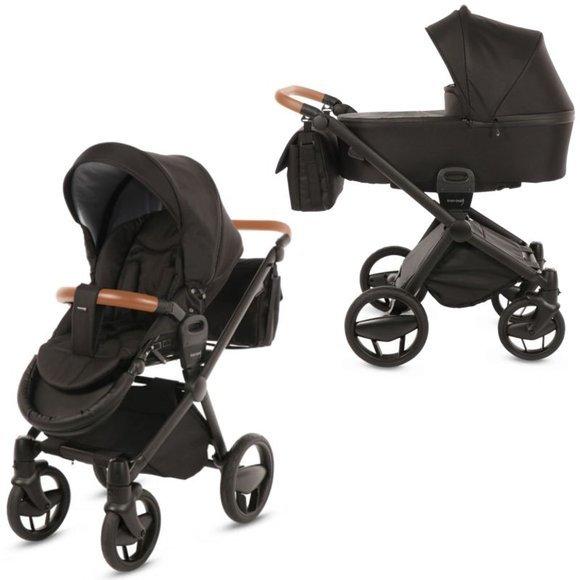 Knorr-Baby Premium Kombi-Kinderwagen mit Schwenkrädern Life+ blackline schwarz Bild 1