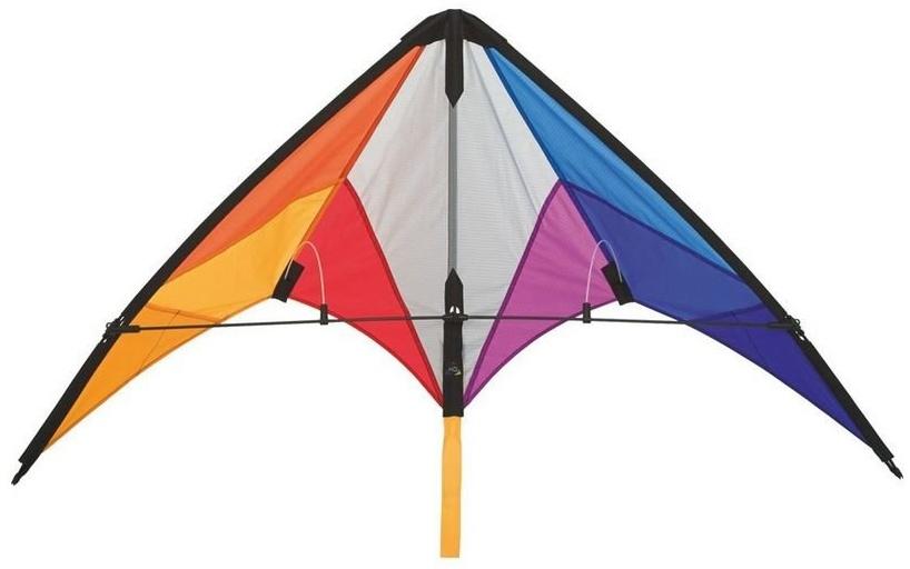HQ 112322 - Calypso II Rainbow Lenkdrachen Zweileiner, ab 8 Jahren, 59x110cm, inkl. 20kp Polyesterschnüre 2x20m auf Spulen, 2-6 Beaufort Bild 1