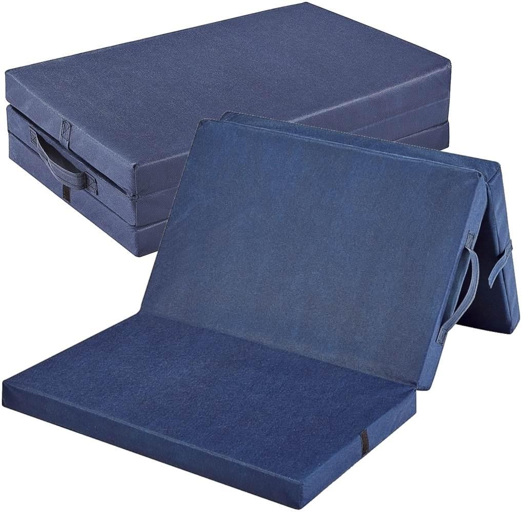 Bambini 'Basic' klappbare Reisebettmatratze 120x60 cm, blau Bild 1