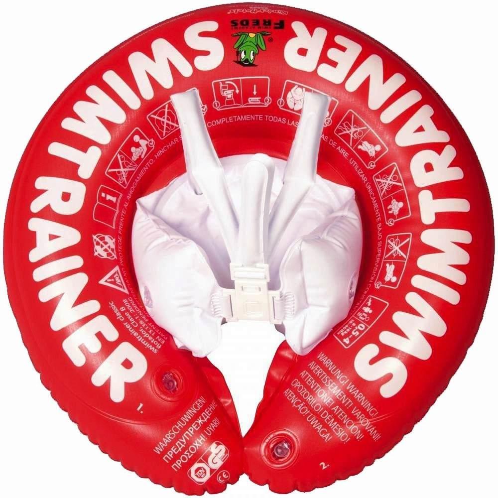 Freds Swim Academy 10102 - Schwimmtrainer Classic, 3 Monate bis ca. 4 Jahre, rot Bild 1