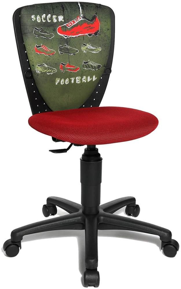 Topstar Nic 70570JD0 Soccer Drehstuhl, schwarz/rot Bild 1