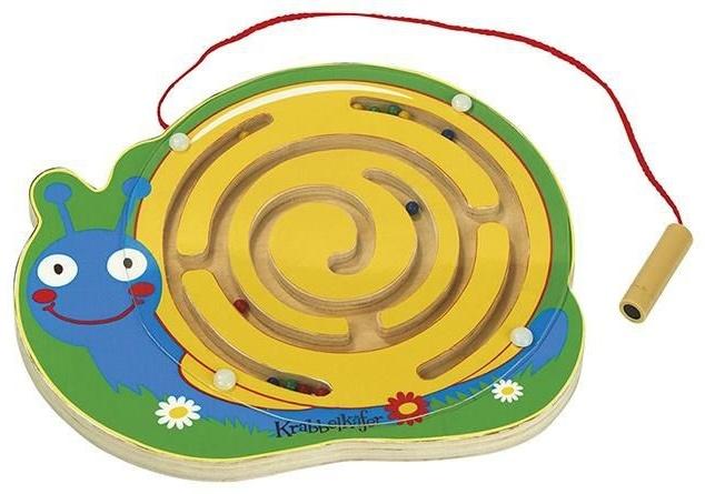 holzlabyrinth mit magnetischer Bleistiftschlacke Bild 1