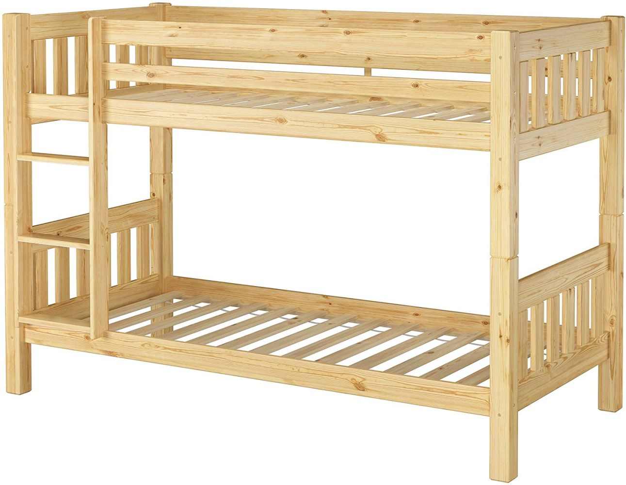 Erst-Holz Etagenbett Kiefer 90x200 cm, natur Bild 1