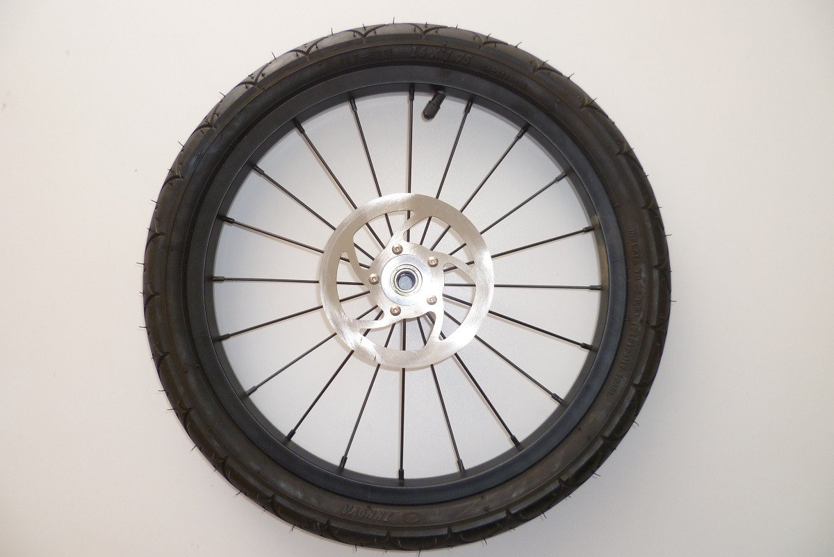TFK Ersatzteil 16 Hinterrad für Joggster 3 Facelift - Stahlfelge schwarz Bild 1