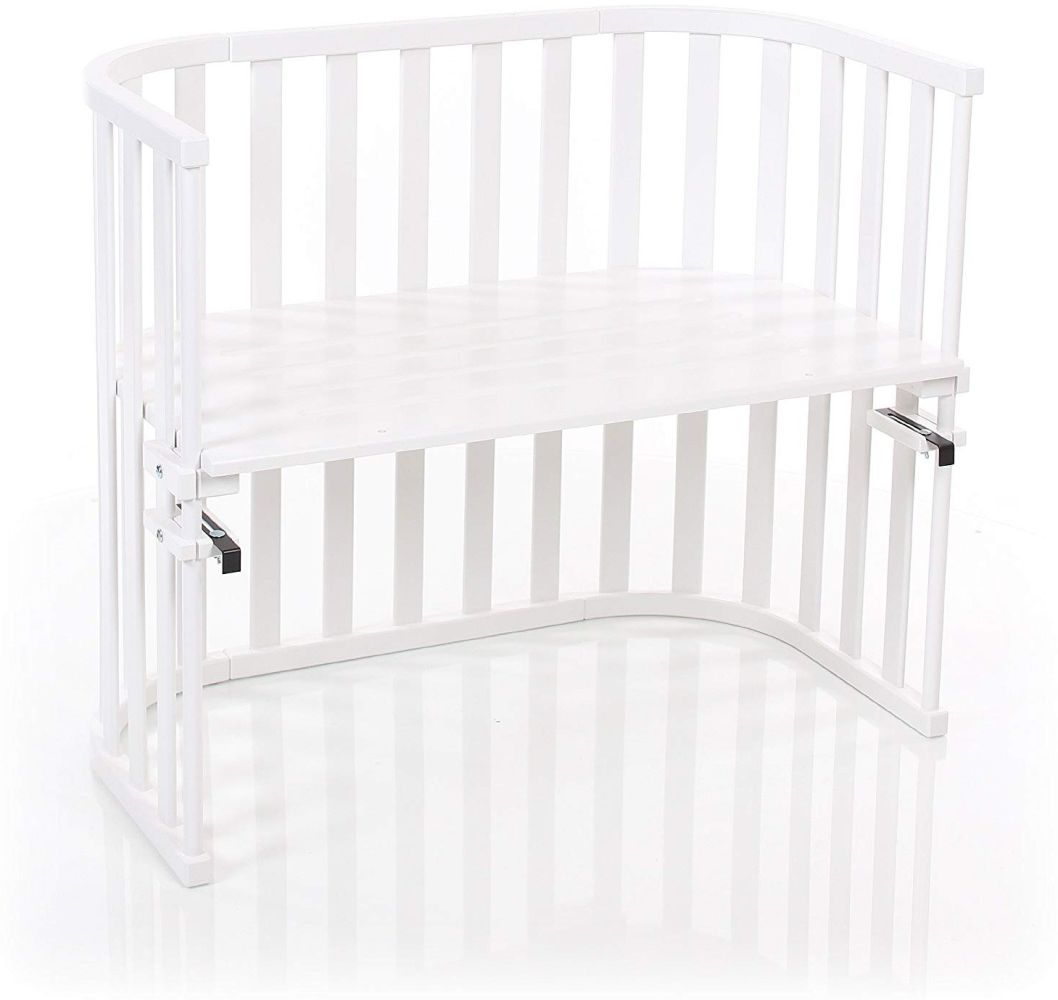 Babybay 'Maxi Advance' Beistellbett weiß lackiert, extra belüftet Bild 1