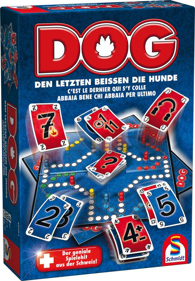 Schmidt Spiele 49201 Dog, Den letzten beissen die Hunde, Familienspiel, bunt Bild 1